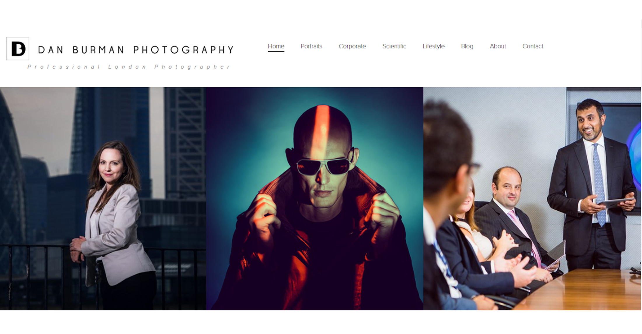photography web design